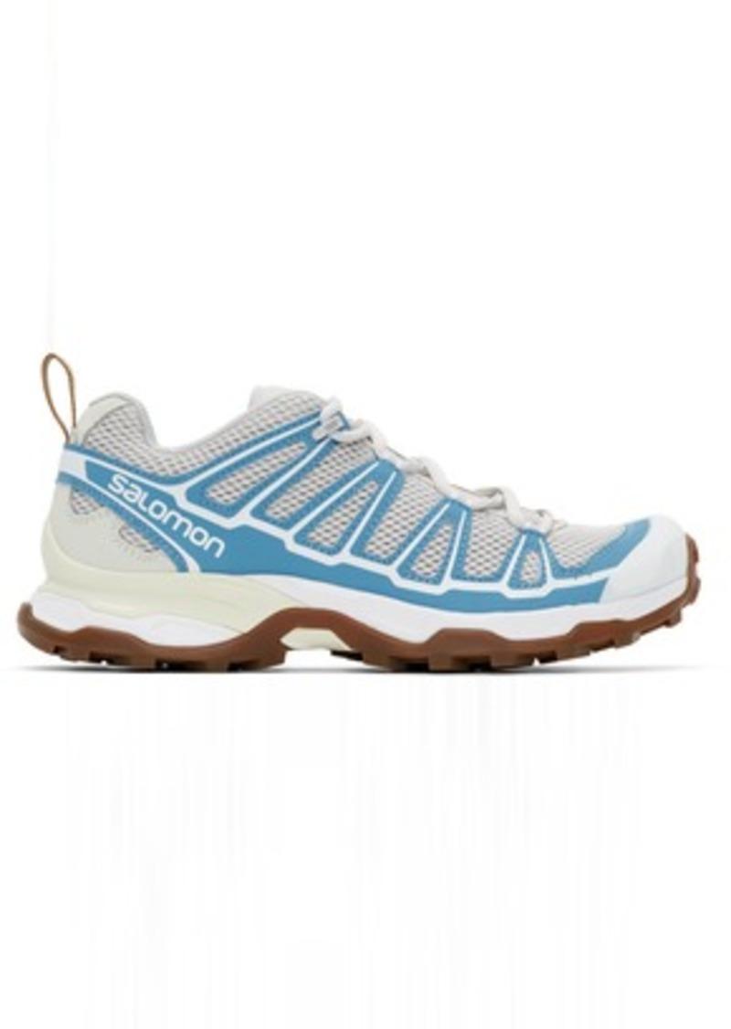 Salomon Grey & Blue X Ultra ADV Sneakers