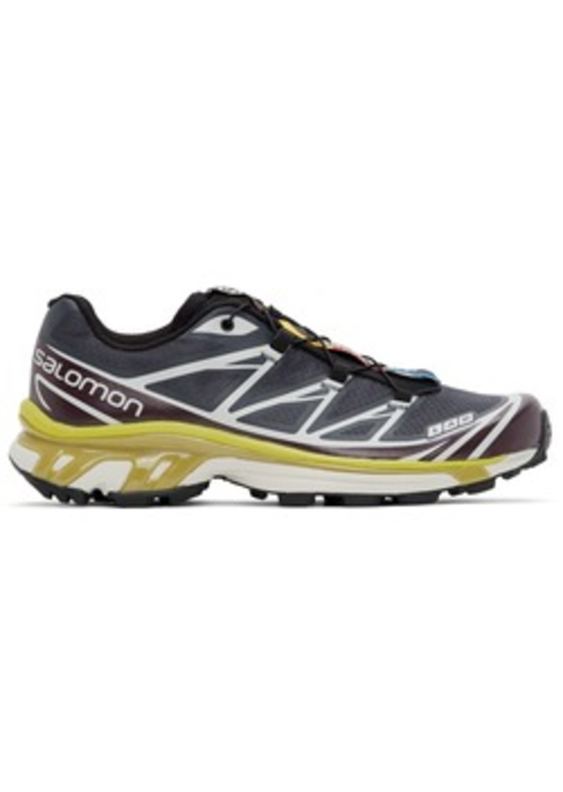 Salomon Grey & Purple Limited Edition XT-6 ADV Sneakers