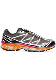 Salomon grey, pink and orange XT-6 ADV sneakers