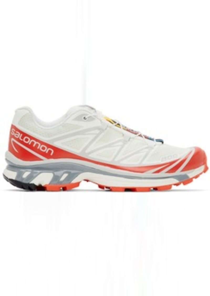 Salomon Off-White & Red Limited Edition XT-6 ADV Sneakers