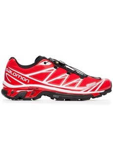Salomon red and white XT-6 adv sneakers