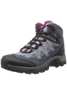 Salomon Women's Authentic LTR GTX W Backpacking Boot Pearl Grey Denim/Mystic Purple