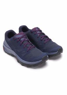 Salomon Women's Outline W Hiking Shoe Evening Crown Blue/Potent Purple