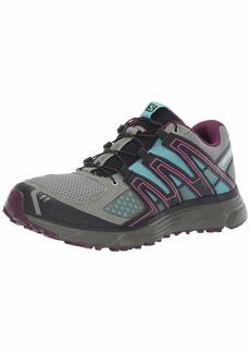 Salomon Women's X-MISSION 3 W Athletic Shoe shadow/dark purple/nile blue 9.5 Standard US Width US