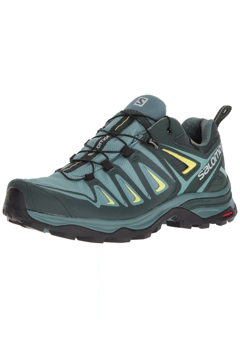Salomon Women's X Ultra 3 GTX Hiking Shoes ARTIC/Darkest Spruce/Sunny Lime