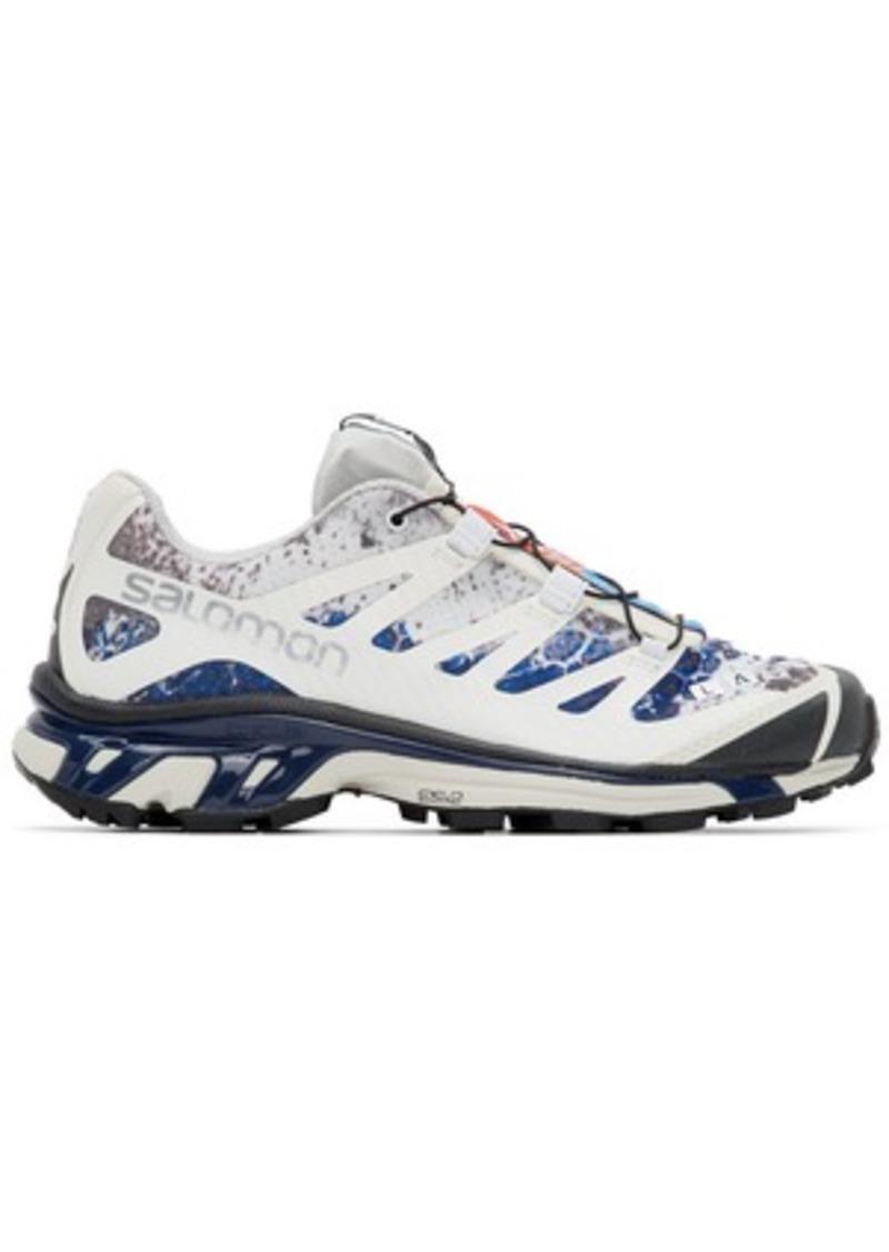 Salomon White & Blue Limited Edition XT-4 ADV Sneakers