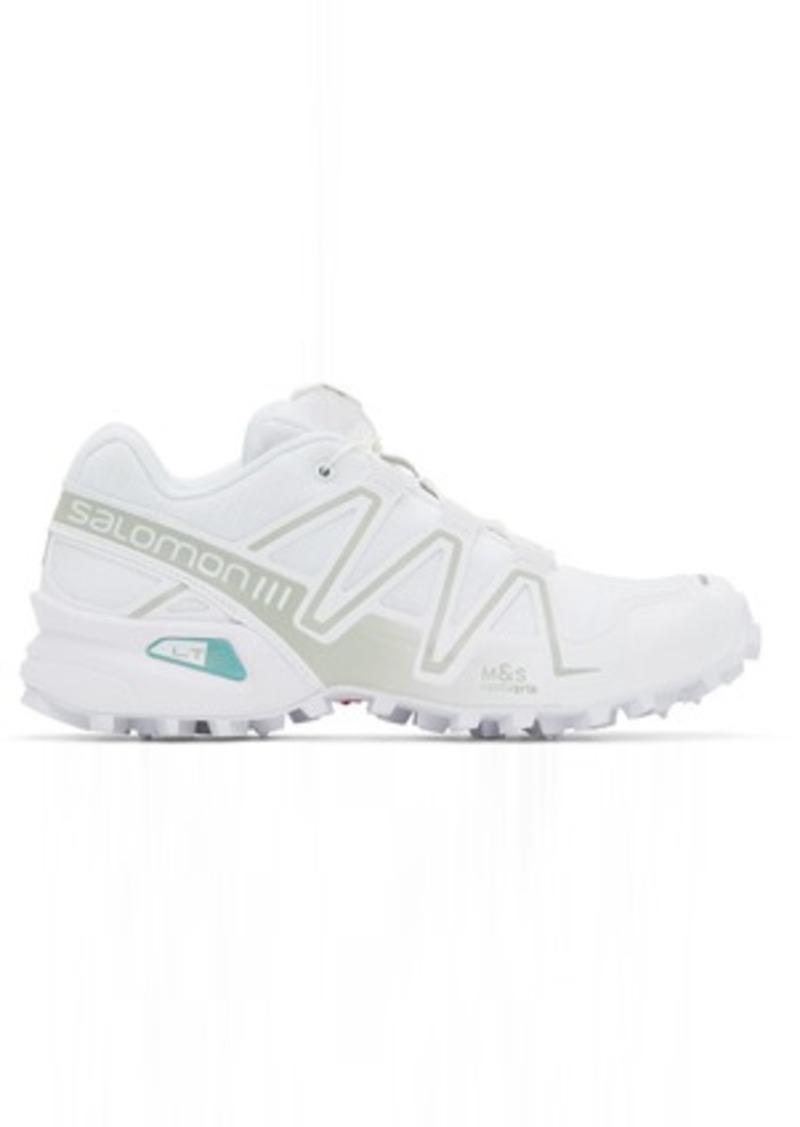 Salomon White Limited Edition Speedcross 3 ADV Sneakers