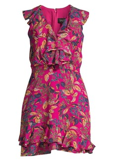 Saloni Cece Ruffle Floral Mini Dress