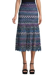 Saloni Chevron Lace Skirt