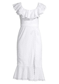 Saloni Ella Broderie Anglaise Ruffle Dress