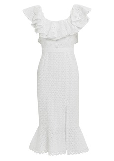 Saloni Ella Eyelet Ruffled Dress