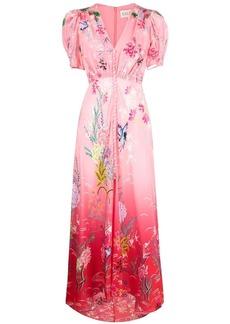 Saloni floral-print maxi dress