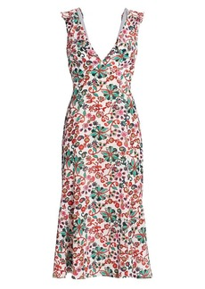 Saloni Holly Silk Crepe de Chine Dress