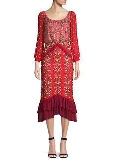 Saloni Isa Embellished Midi Dress