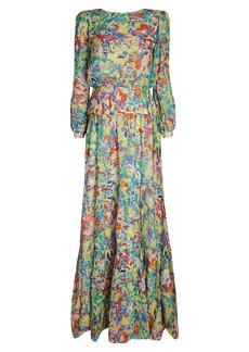 Saloni Isabel Printed Silk Georgette Dress