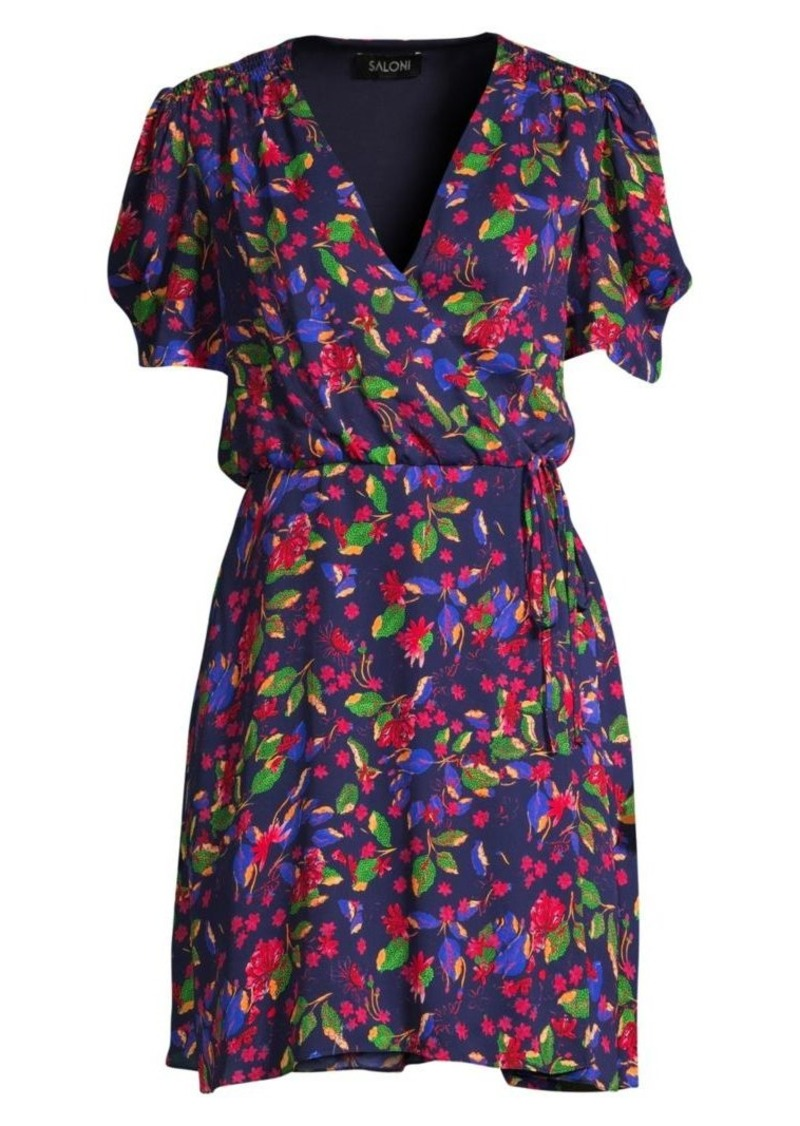 Saloni Lea Floral Wrap Dress