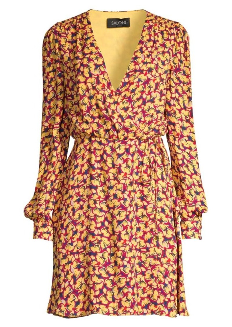 Saloni Lea Print Wrap Dress