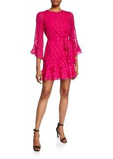 Saloni Marissa B Polka Dot Mini Dress