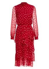 Saloni Marissa Polka Dot Ruffled Mini Dress