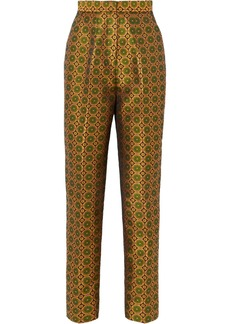 Saloni Maxima Floral Brocade Tapered Pants