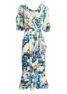Saloni Olivia Begonia Floral Dress