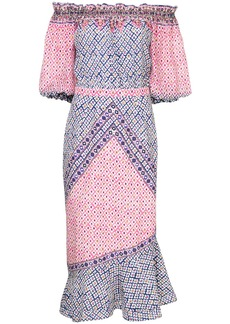 Saloni paisley print dress