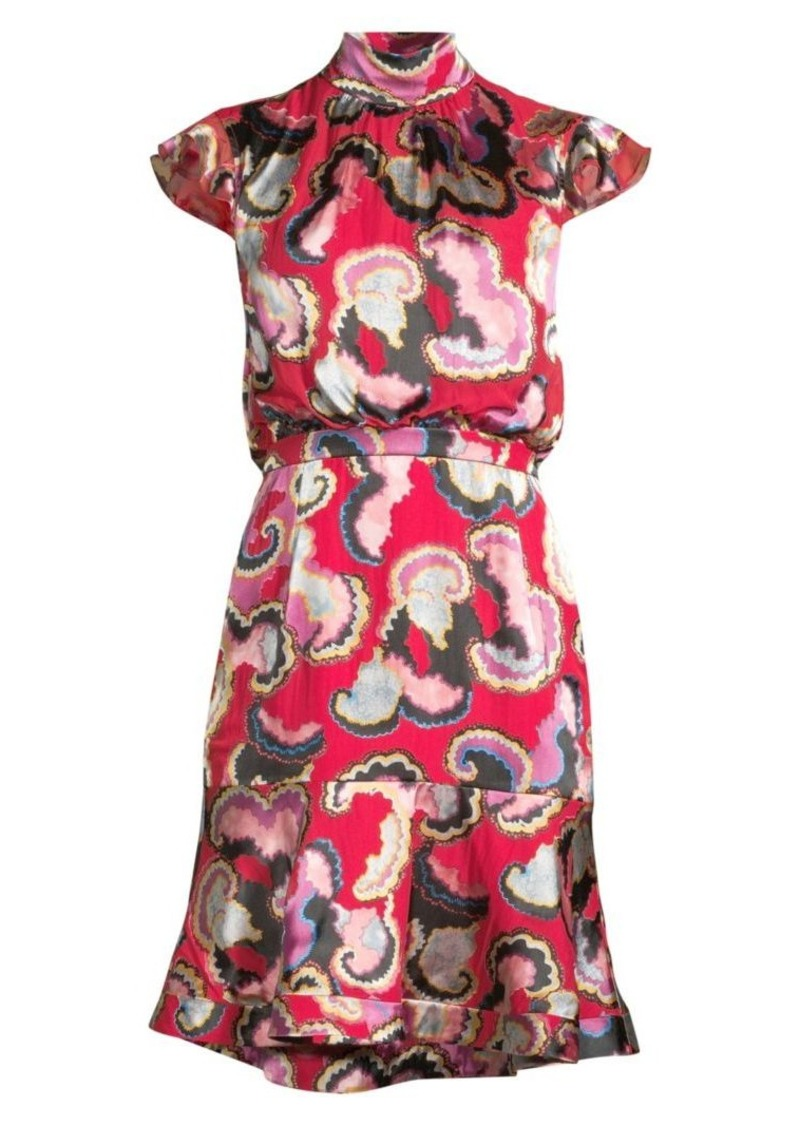 Saloni Phoebe Print Dress