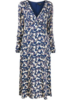 Saloni printed midi dress