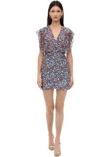 Saloni Printed Silk Blend Georgette Mini Dress