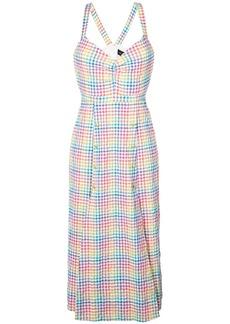 Saloni rainbow gingham dress