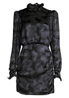 Saloni Rina B Tonal Print Dress