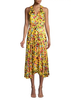 Saloni Rita Silk Floral Hankerchief Dress