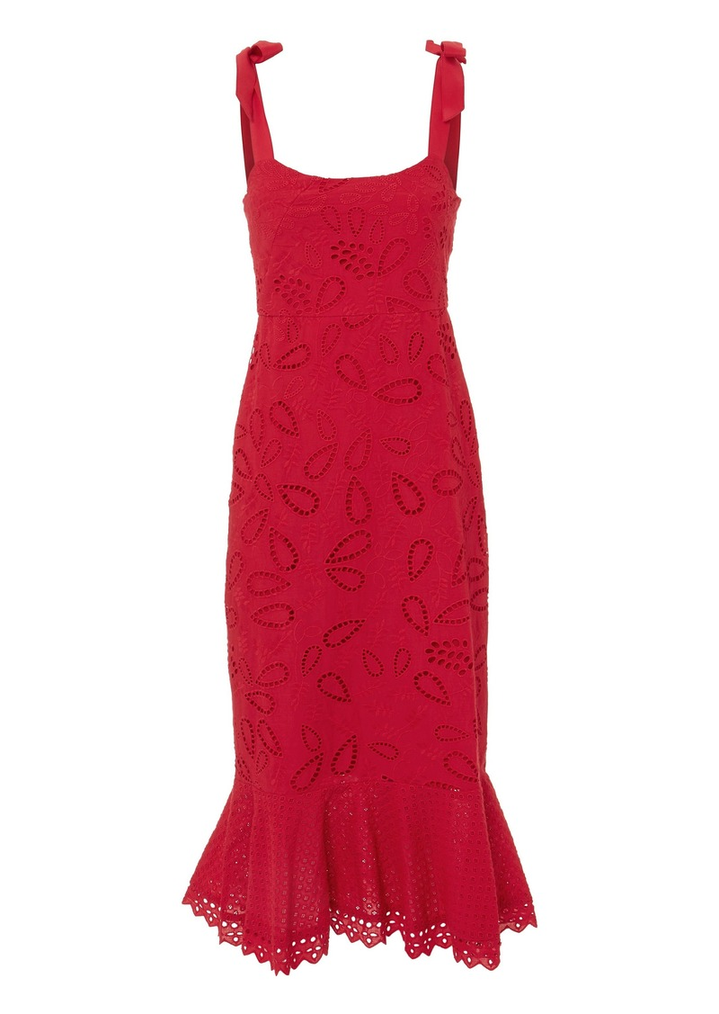 Saloni Rose Midi Dress
