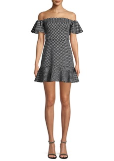 Saloni Amelia Off-the-Shoulder Minidress