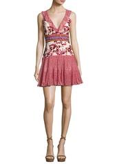 Saloni Amy Sleeveless Silk Short Dress