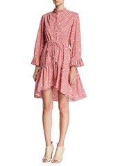 Saloni Billie Cotton Long-Sleeve Mini Dress