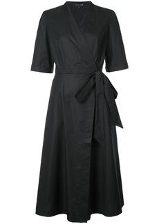 Saloni classic tie wrap dress