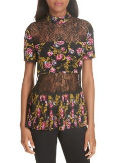 SALONI Dita Lace Panel Blouse