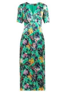 Saloni Eden floral-print silk midi dress