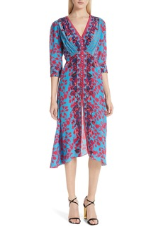 SALONI Eve Floral Print Dress