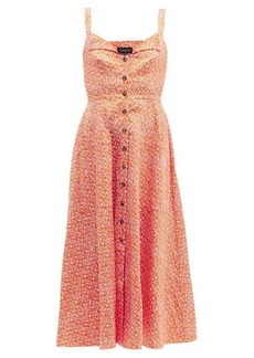 Saloni Fara printed cotton-blend dress