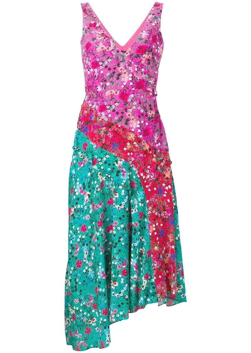 floral print dress - Pink & Purple Saloni JuO6g