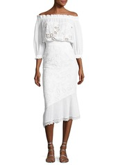 Saloni Grace Eyelet Cotton Dress