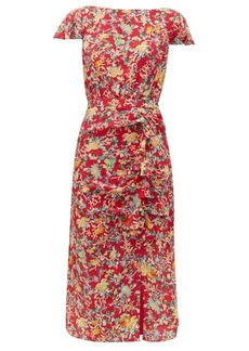 Saloni Heather floral-print silk dress