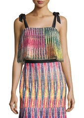 Saloni Jemi Pleated Crop Top