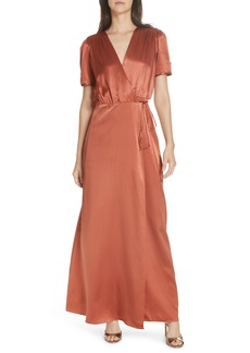 SALONI Lea Silk Wrap Dress