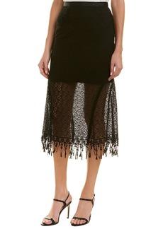 Saloni London Diana Printed Midi Skirt
