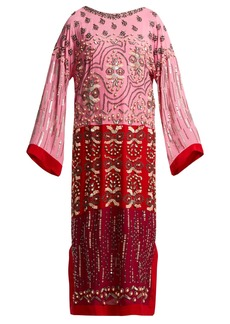 Saloni Maki embroidered silk kaftan