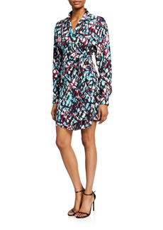 Saloni Mari Printed Short Wrap Dress