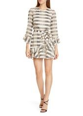 SALONI Marissa Ruffle Silk Blend Minidress